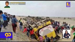 Al menos 2 muertos tras despides de bus de empresa agrícola  en Chiclayo