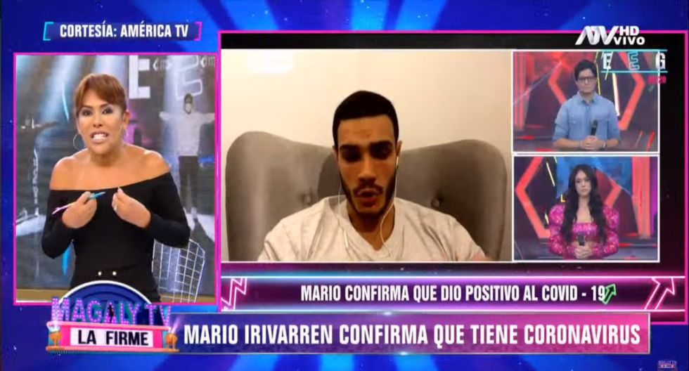 Magaly Medina se solidarizó con Mario Irivarren y dijo entender el dolor de no poder abrazar a un familiar debido al coronavirus. (Foto: Captura de pantalla ATV)