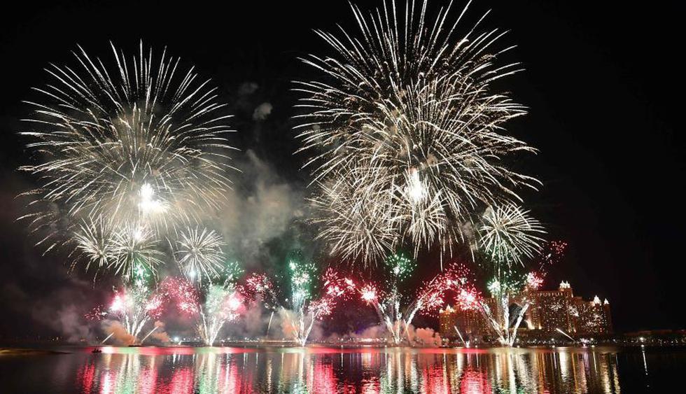 Dubái recibió así el Año Nuevo 2019. (Foto: AFP).