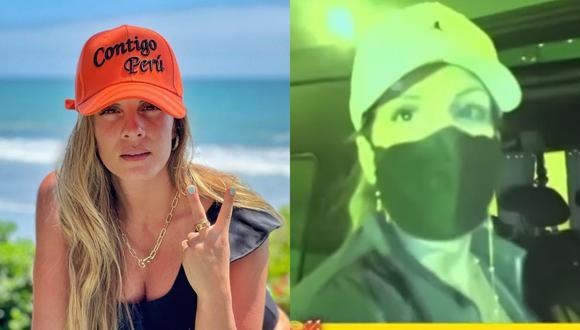 """Alejandra Baigorria declaró para el programa """"Amor y Fuego"""" tras regresar a Perú desde México. (Foto: Captura Willax TV/@alejandrabaigorria)."""