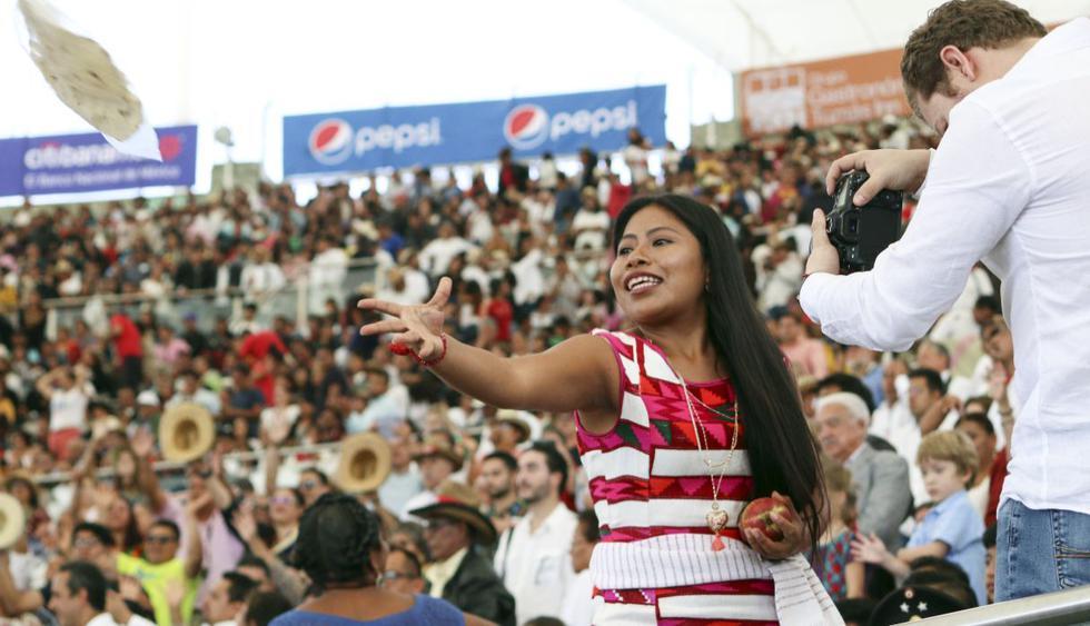 """La protagonista de """"Roma"""", Yalitza Aparicio, fue cuestionada por, presuntamente, desairar a sus fans. (Foto: AFP)"""
