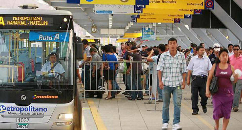Pro Transporte recomienda a usuarios tomar las previsiones para no verse afectados por los cambios dispuestos para los buses del Metropolitano. (Foto: Difusión)