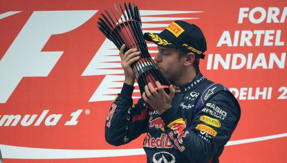 Sebastian Vettel dijo estar muy emocionado. (AFP)