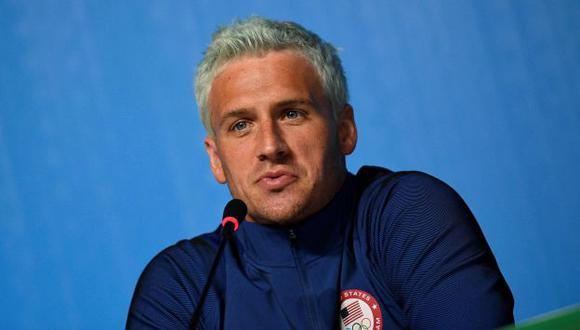 Ryan Lochte perdió dos importantes patrocinios tras escándalo en Río 2016. (AFP)