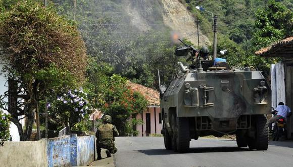 Sigue la ofensiva militar. (AP)