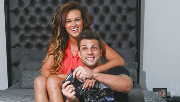 Angie y Nicola viven romance. (USI)