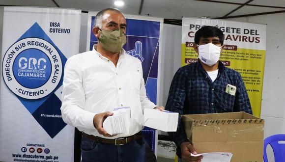 Cajamarca: centros de salud reciben ivermectina y mascarillas en Cutervo (Foto: Gobierno Regional Cajamarca).