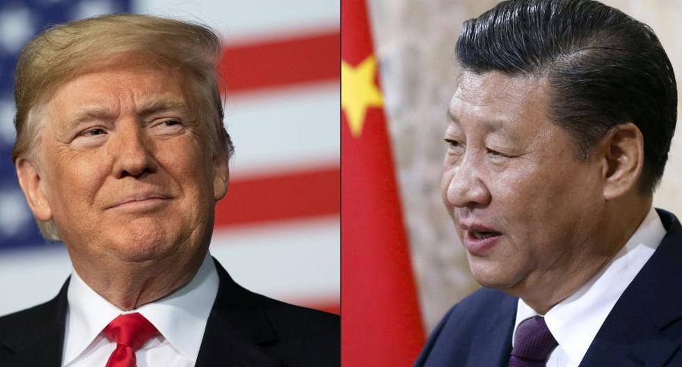 Una imagen combinada del presidente de Estados Unidos, Donlad Trump, y de su homólogo de China Xi Jinping. (Foto: Jim WATSON y PETER KLAUNZER / AFP).