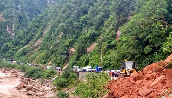 Deslizamiento en Aguaytía interrumpe carretera Jorge Basadre. (Foto: @ProviasNac_Peru)