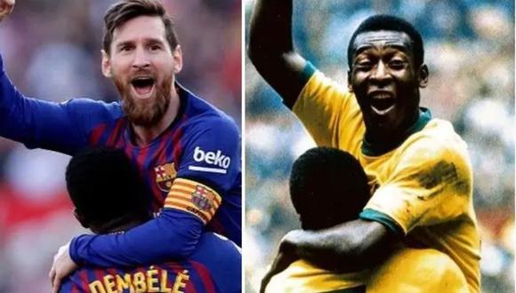Lionel Messi y Pelé en nueva disputa por récord de goles (Foto: Instagram Pelé)