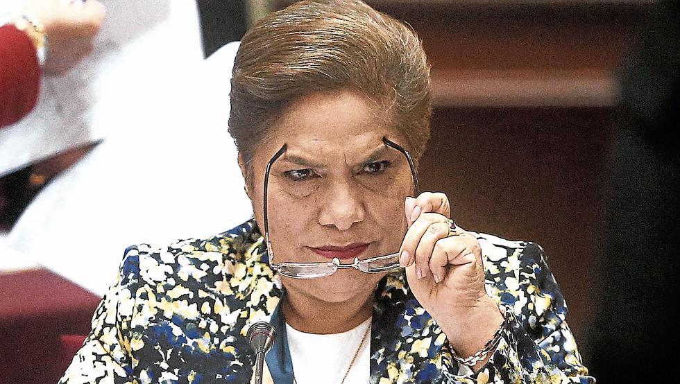 Luz Salgado. Congresista de Fuerza Popular y ex presidenta del Legislativo. (Perú21)