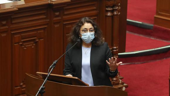 La primera ministra, Violeta Bermúdez. (Foto: PCM)