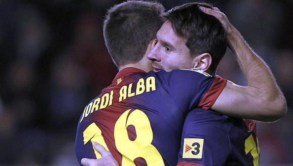 ESTÁ EN DEUDA. Lionel Messi se quedó con las ganas de dedicarle un gol a Thiago. (AP)