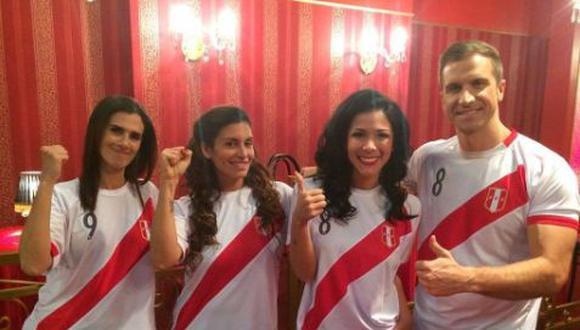 Protagonista y elenco de telenovela motivaron a la selección naciona.. (Instagram/@americatelevisión)