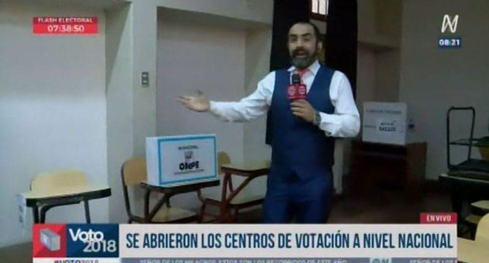 Mesas no habilitadas. (Foto: captura de video / América Televisión)