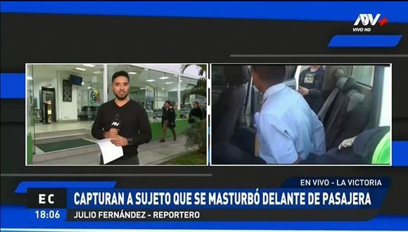 El terramozo Jaime Enrique Sembrera Huamán permanece arrestadoen la comisaría de Nazca, en Ica, para las investigaciones del caso. (Foto: Captura ATV+)