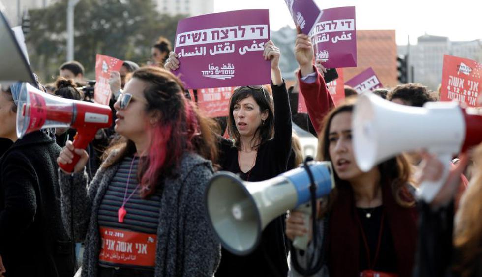 Miles de mujeres en Israel participan en una huelga contra la violencia machista, que incluirá una manifestación multitudinaria en Tel Aviv y otras ciudades y que ha sido apoyada por la administración pública. (Foto: EFE)