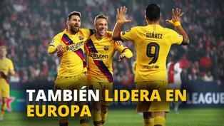 Barcelona ganó en Praga con goles de Messi y Suárez