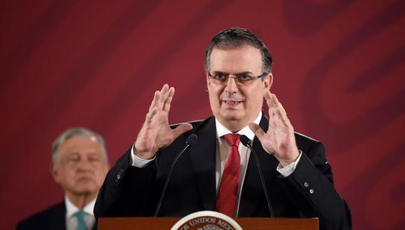 El titular de la Secretaría de Relaciones Exteriores de México, Marcelo Ebrard. (Foto: AFP)