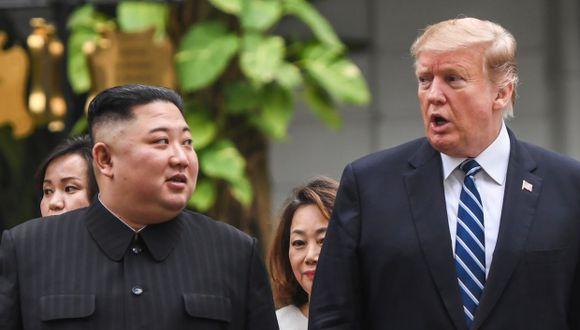 """Donald Trump aseguró que la idea de invitar a Kim Jong Un a la frontera intercoreana se le acababa de ocurrir """"esta mañana"""". (Foto: AFP)"""