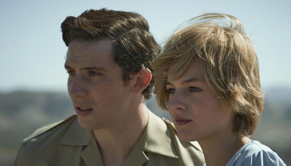 The Crown se estrenó en Netflix el 4 de noviembre de 2016 y ha ganado diversos premios, como el Globo de Oro 2021 a Mejor Serie Drama. En esta imagen, Elizabeth Debicki y Josh O'Connor como Carlos y Diana. (Foto: Netflix)