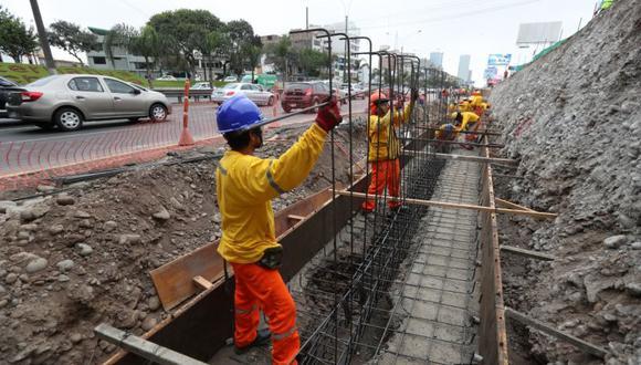 Las obras se ejecutan debajo del puente Quiñones, en La Victoria. (Municipalidad de Lima)