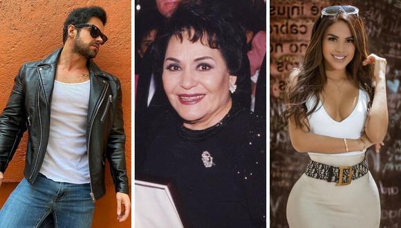 Carmen Salinas recomendó a Stephanie Valenzuela perdonar a su agresor, Eleazar Gómez, y escoger una mejor pareja para la próxima. (Foto: Instagram / @carmensalinas_56 / @eleazagomez333 / @tefivalenzuela).