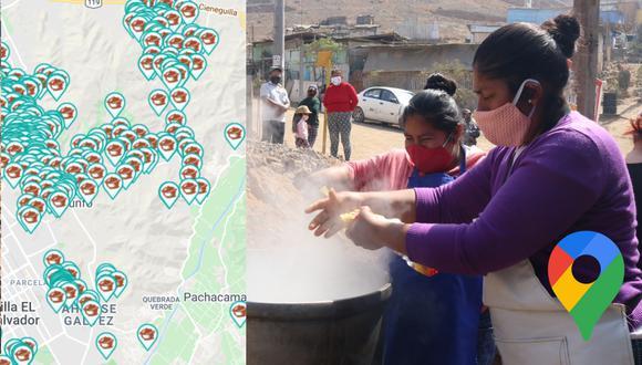 ¿Quieres apoyar a una olla común? Usa este mapa de Google Maps hecho por la Municipalidad de Lima. (Foto: Municipalidad de Lima)