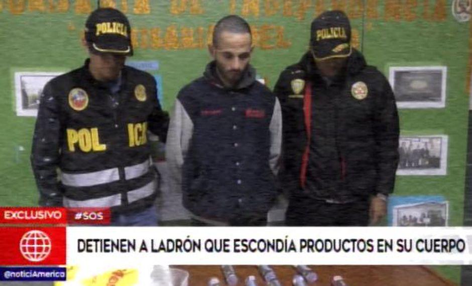 José Luis Navarro Zugazeta (27) fue intervenido por la policía al querer salir de un conocido supermercado en  Independencia con varios dulces que no había pagado.