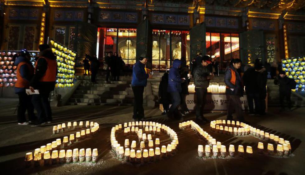 Corea del Sur.La 10 fotos más espectaculares de la llegada del Año Nuevo en Asia (Foto: AP)