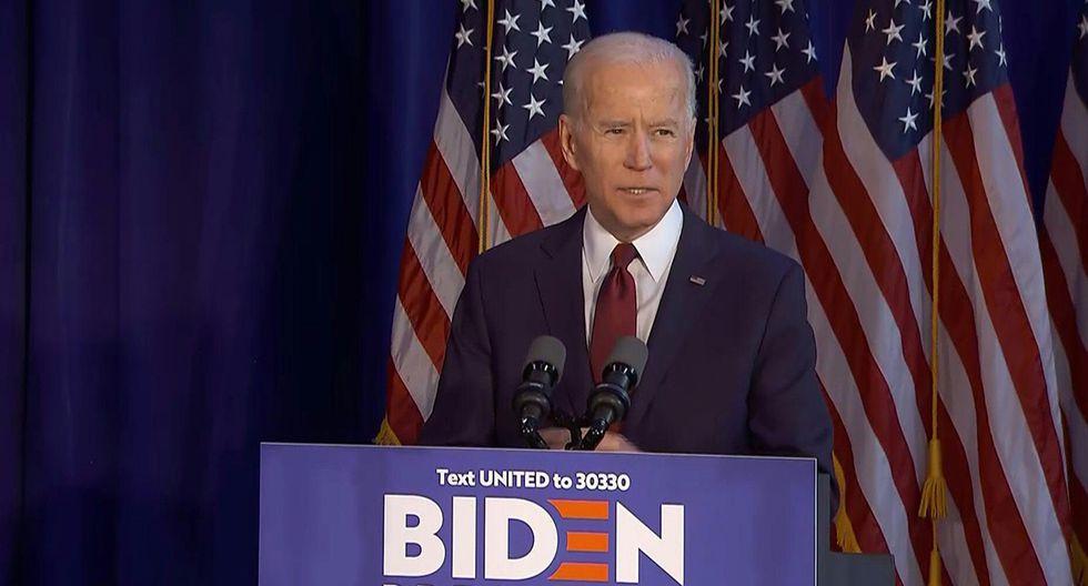 """""""El establishment demócrata ha coronado al ex vicepresidente Joe Biden como su principal apuesta para derrotar a Trump""""."""
