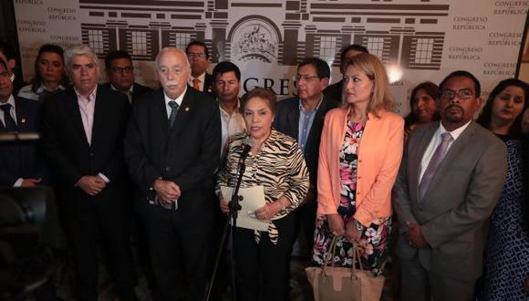 Luz Salgado, vocera alterna de FP, dijo que no se respetó la proporcionalidad. (Perú21)