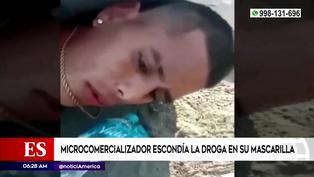 San Martín de Porres: detienen a sujeto que vendía droga escondida dentro de su mascarilla