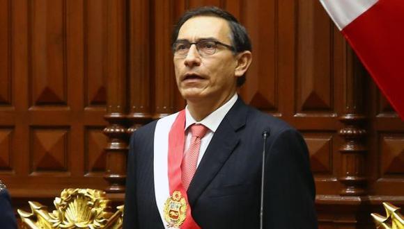 El presidente Martín Vizcarra brindará su discurso desde el púlpito destinado para recibir a los mandatarios. (Foto: GEC)<br>