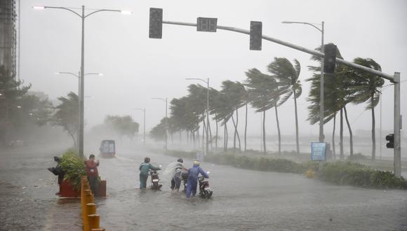 """Defensa civil local indicó que """"puede haber olas equivalentes a un edificio de cuatro pisos y muchas casas pueden quedar destruidas"""". (Foto: AP)"""