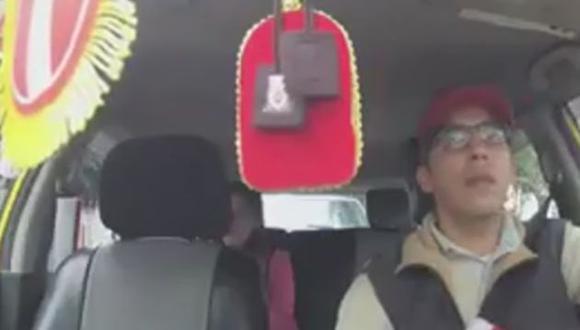 Daniel Peredo se disfrazó de taxista por la selección peruana.