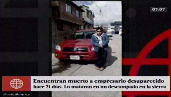 Empresario que desapareció hace 21 días en Cerro de Pasco fue hallado muerto en un descampado. (Captura de video)