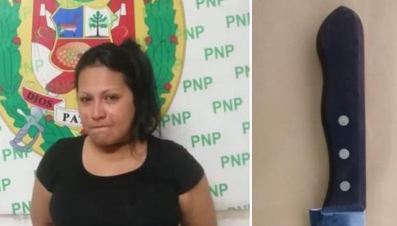 Keila Josefina Linares Briceño  fue detenida tras ser acusada de atacar a un compatriota. (Policía Nacional)