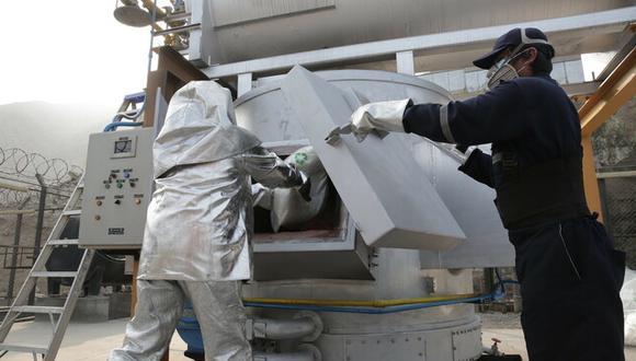 Mininter destruyó 42 toneladas de droga decomisadas durante el año 2020 (Foto: Mininter)