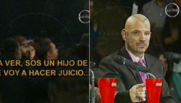 Jano Canavesi perdió los papeles tras ser eliminado del reality de imitación. (Captura de TV)