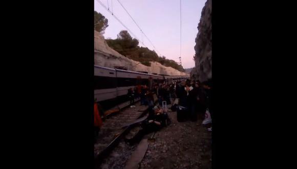 El 20 de noviembre de 2018 falleció otra persona falleció luego de que la línea r4 descarrilara un tren de Cercanías. (Foto: Captura)