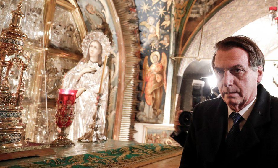 Bolsonaro dejó Israel sin cumplir su promesa electoral de trasladar la legación diplomática de Tel Aviv a Jerusalén. (Foto: EFE)