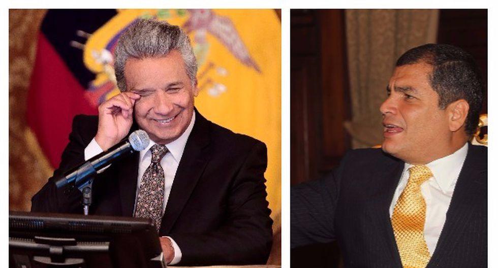 Rafael Correa volvió a arremeter contra Lenín Moreno a días de que inicie una convención de su movimiento político Alianza País (El Comercio/AFP).