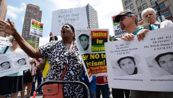 PROTESTAS. La vida de George Zimmerman no será la misma y temen por su seguridad. (AFP)