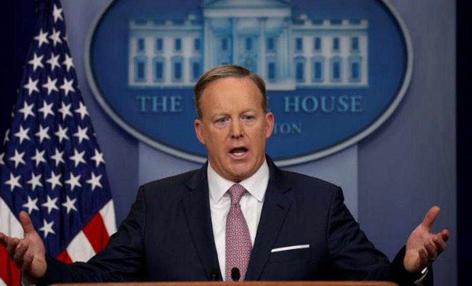 Spicer hizo declaraciones a la prensa estadounidense. (Foto: Reuters)