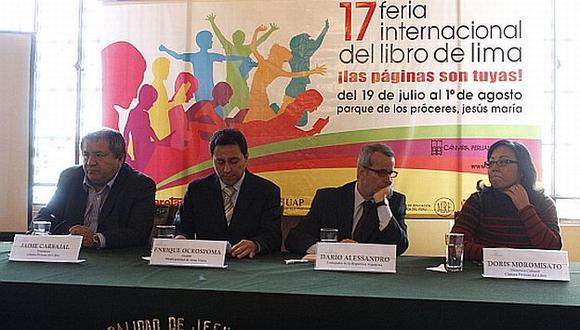 Conferencia de prensa de la FIL, realizada en la Municipalidad de Jesús María. (Jaime Cabrera)