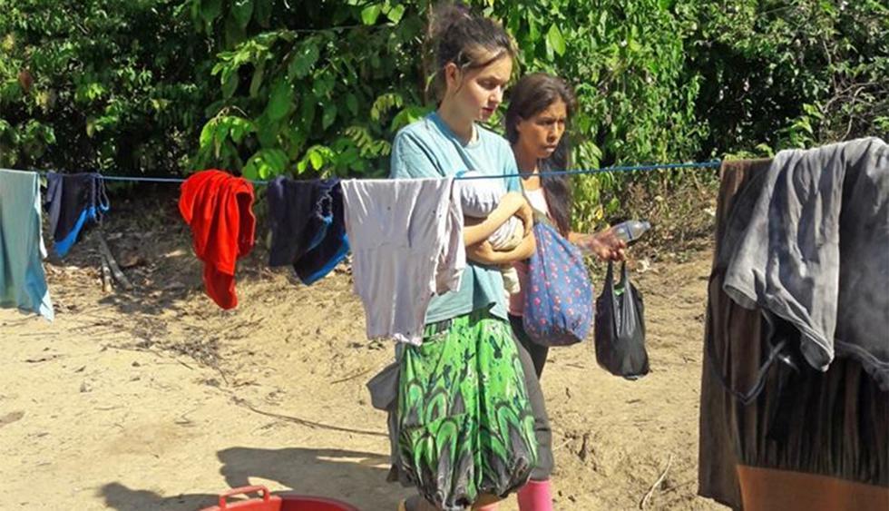 La española Patricia Aguilar convivía con Félix Manrique y las otras dos mujeres en una rudimentaria vivienda ubicada en San Martín de Pangoa. (Foto: Municipalidad Distrital de Pangoa)