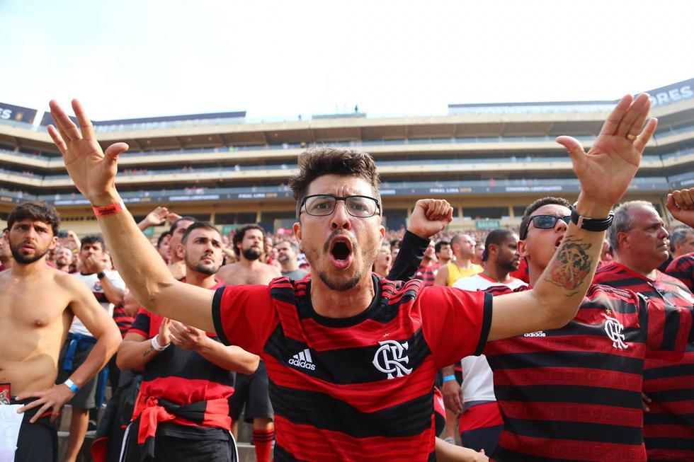 Así vivieron los hinchas del Flamengo la final de la Copa Libertadores. (Hugo Curotto)