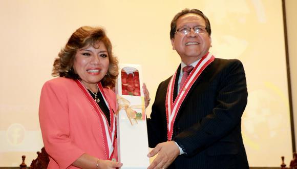 Los fiscales supremos Zoraida Avalos y Pablo Sánchez son integrantes de la Junta de Fiscales Supremos. (Foto: Ministerio Público)