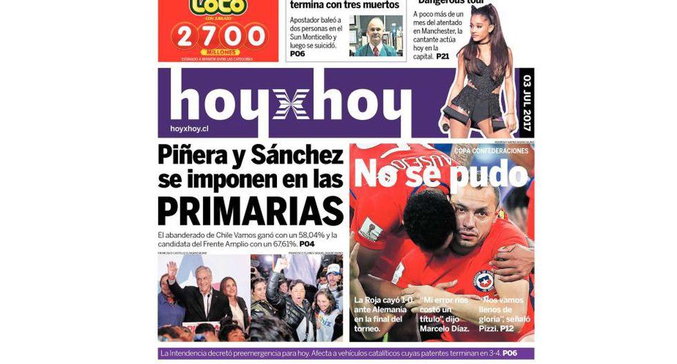 "HoyxHoy: ""No se pudo"". (hoyxhoy.cl)"